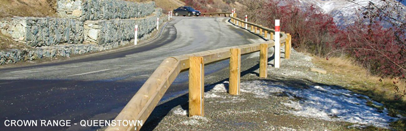 Crown Range Queenstown Timber Guardrails