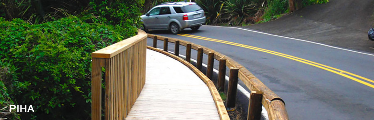 Timber Guardrails Piha New Zealand